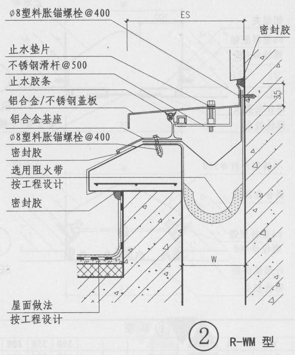屋面变形缝图集RM